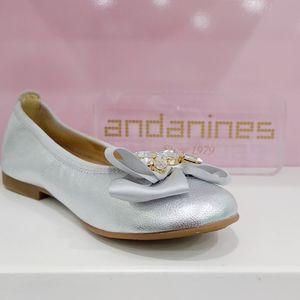 Ballerina Andanines argento con dettaglio