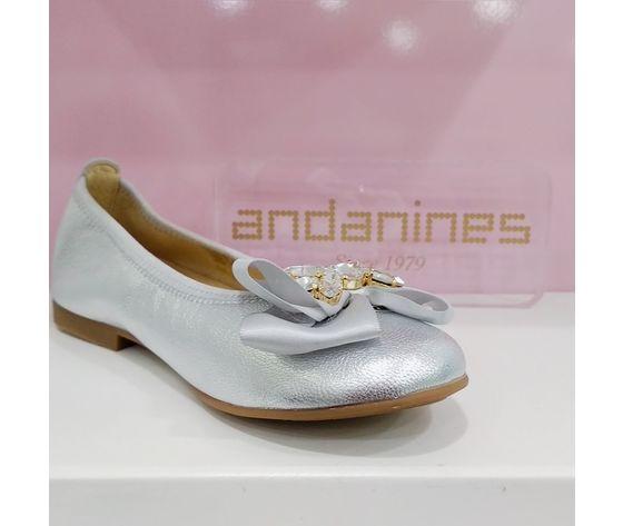 Ballerina andanines argento con dettaglio ballerina andanines argento con dettaglio   34 1