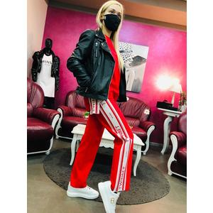TWIN SET pantalone felpa rosso