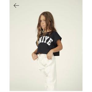 Aniyeby girl jeans bianco