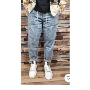 Jeans bl011 elasticizzati corda in vita