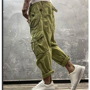 Pantalone Berna verde con tasche laterali