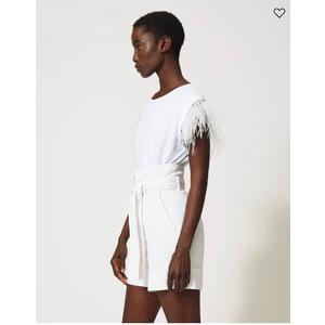 Twinset t-shirt con piume
