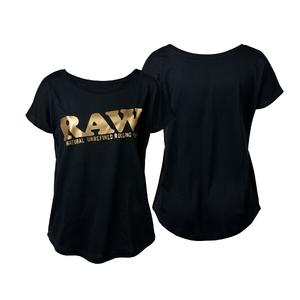 RAW GIRL SHIRT BLACK/GOLD