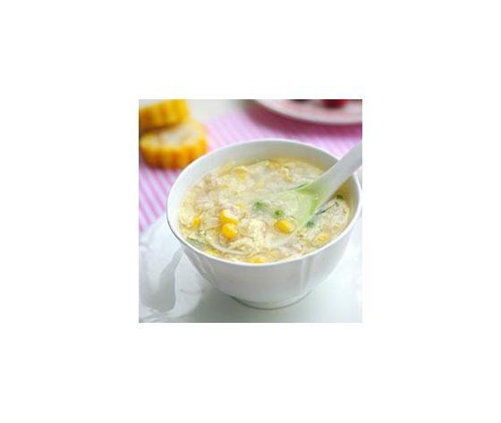 Zuppa di mais con pollo