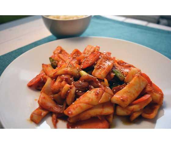 Calamari in salsa piccante
