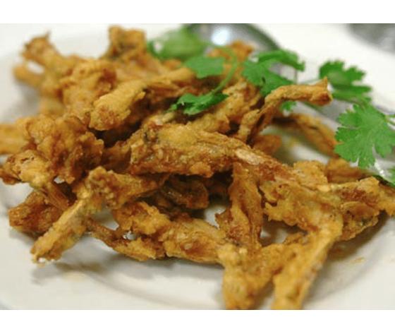 Cosce di rana fritte saltate
