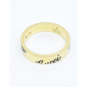 Gucci Anello Icon Prints sottile 18 carati Oro bianco