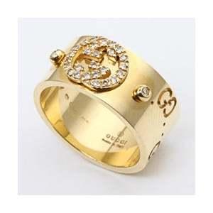 Gucci Anello Icon 9mm. oro giallo e brillanti