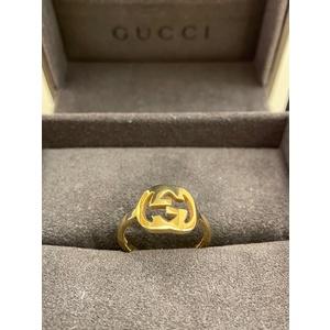 Gucci Anello Hoops in oro giallo 18kt