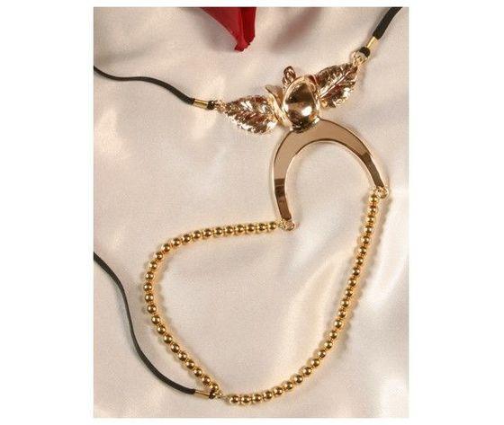 String in metallo con perle st44 2
