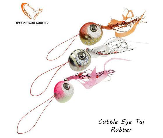 Cuttle eye tai rubber jig
