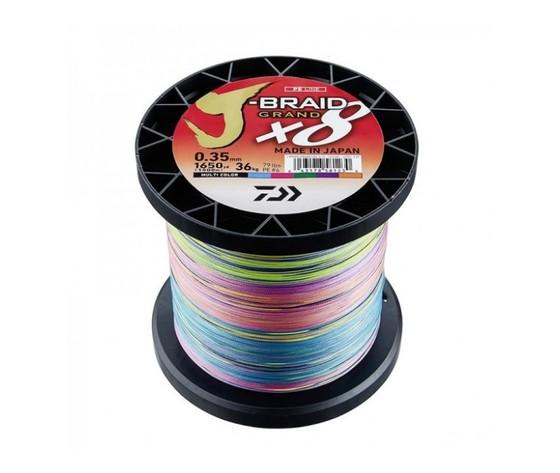 Trecciato daiwa j braid grand x8 024 mm colore multi 1500 mt lb 40 kg 18