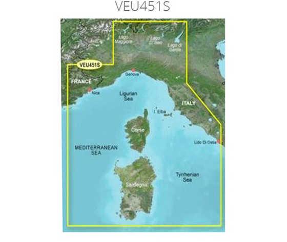 Carta garmin bluechart g3 hd vision small mar ligure corsica e sardegna 77711 zoom