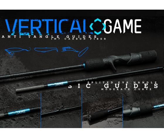 Vertical gamecasting rods