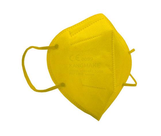Mascherina ffp2 colorata gialla
