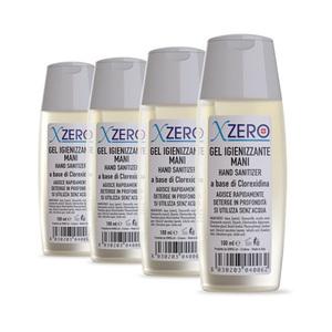 Pack 4 pz Xzero gel igienizzante mani