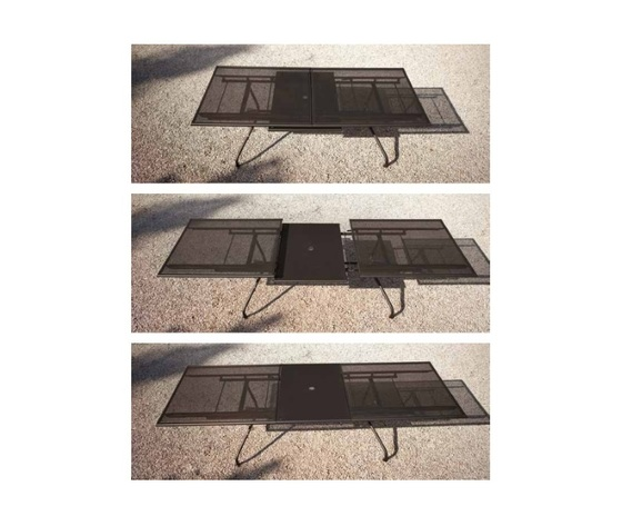 Athena tavolo allungabile emu 23070x100 cm bianco lucido emu 1 4 1634 2137