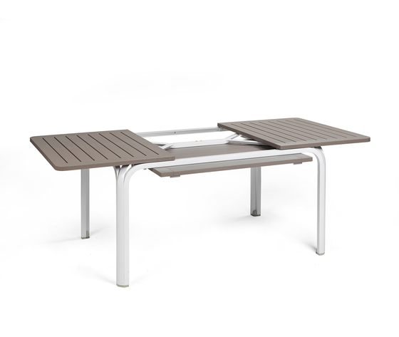 1489077221 set tavolo alloro 140 con 6 sedie palma bianco tortora tavolo prolungajpg