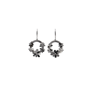 Orecchini floreali in argento