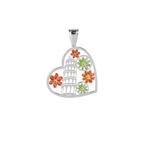 Pendente a forma di cuore con la Torre di Pisa