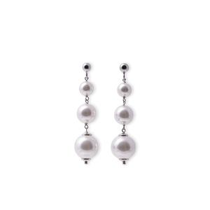 Orecchini con Perle Bianche a Scalare