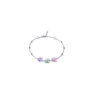 Bracciale Colorato Violet Peridot Rosa