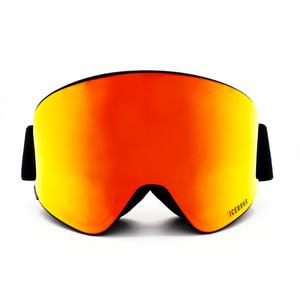 Maschera Sci-Snowboard Bluetooth 5.0 ICEBRKR Black – Red–Gold Mirror