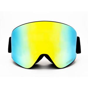 Maschera Sci-Snowboard Bluetooth 5.0 ICEBRKR Black – Yellow–Green Mirror