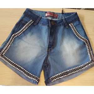 Pantaloncino Jeans chiaro ricamato