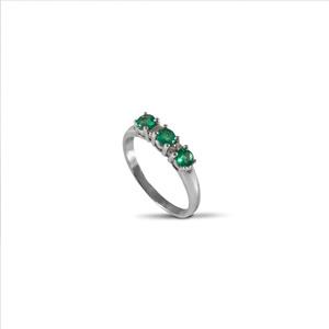 Anello Trilogy Smeraldo