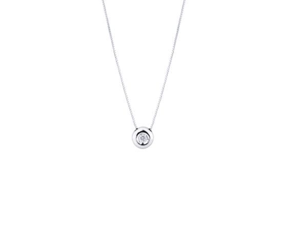 Collana punto luce a cipollina in oro bianco 18k con diamante removebg preview