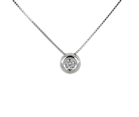 Collana punto luce cipollina piccola con diamante ct 008 g vs gioielloro 160114 removebg preview