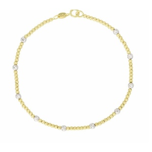 bracciale oro palline diamantate