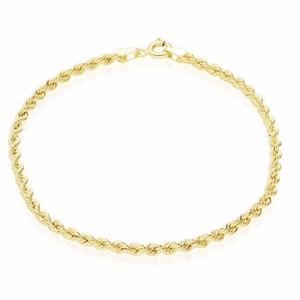 bracciale oro corda