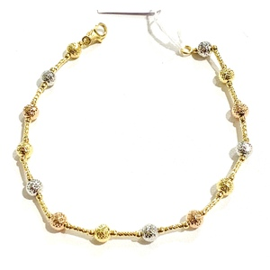 bracciale oro giallo Bianco rosso diamantato