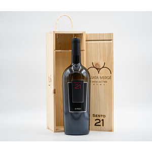Magnum Syrah Sesto 21 Lazio IGP con box in legno artigianale