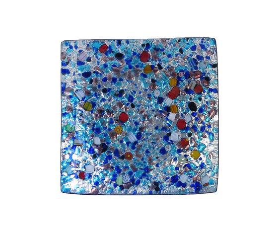 Piatto vetro sg argento quadrato arlecchino