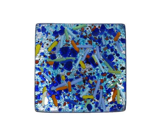 Piatto vetro sg argento quadrato canne arlecchino