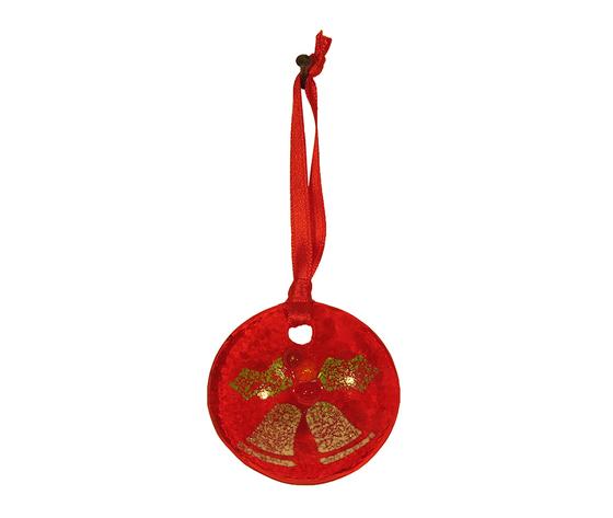Disco natale muro rosso campane