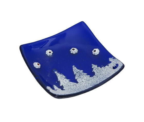 Piatto vetro quadrato blu bosco orizzontale