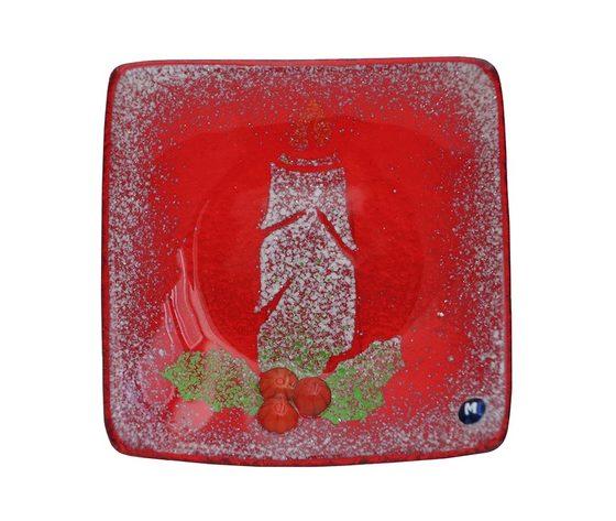 Piatto vetro quadrato rosso candela jpg