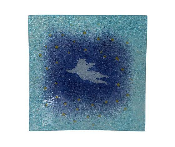 Piatto vetro quadrato angelo