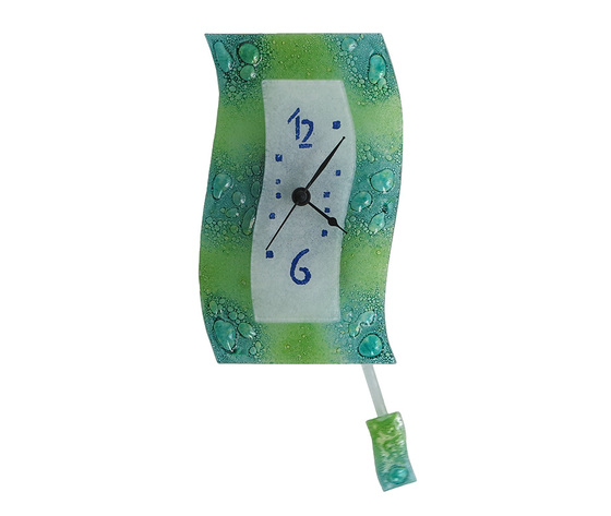 Orologio vetro extro bolle verde