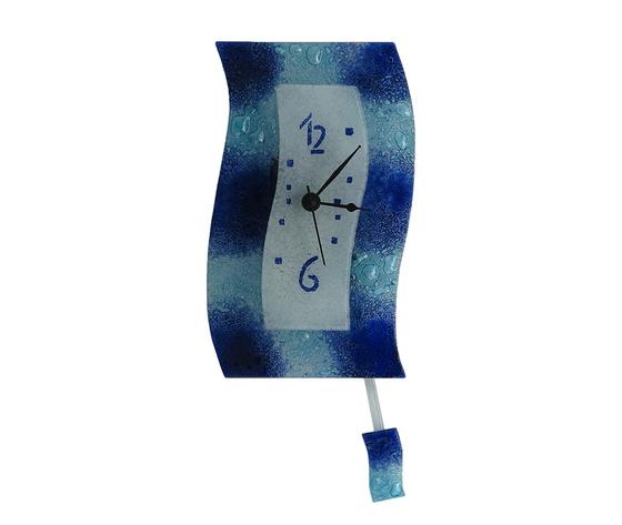 Orologio vetro extro macchie blu