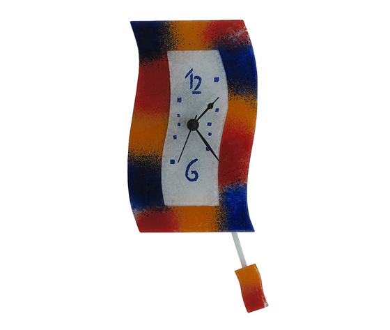 Orologio vetro extro macchie rosso blu