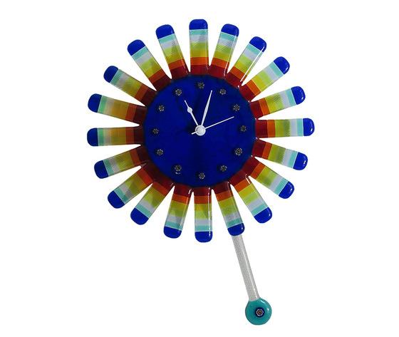 Orologio vetro sole raggi concentrici blu