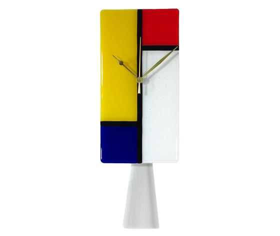 Orologio vetro muro p rettangolare mondrian 1