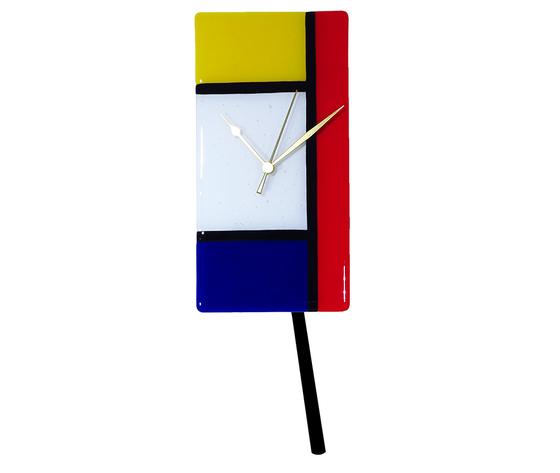 Orologio vetro muro p rettangolare mondrian 2