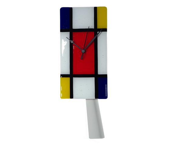 Orologio vetro muro p rettangolare mondrian 3
